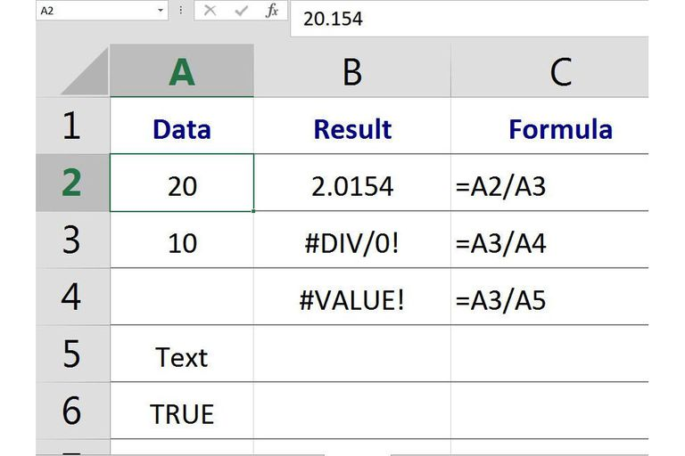 "Definition and Use of the Term ""Value"" in Excel and Google Spreadsheets"