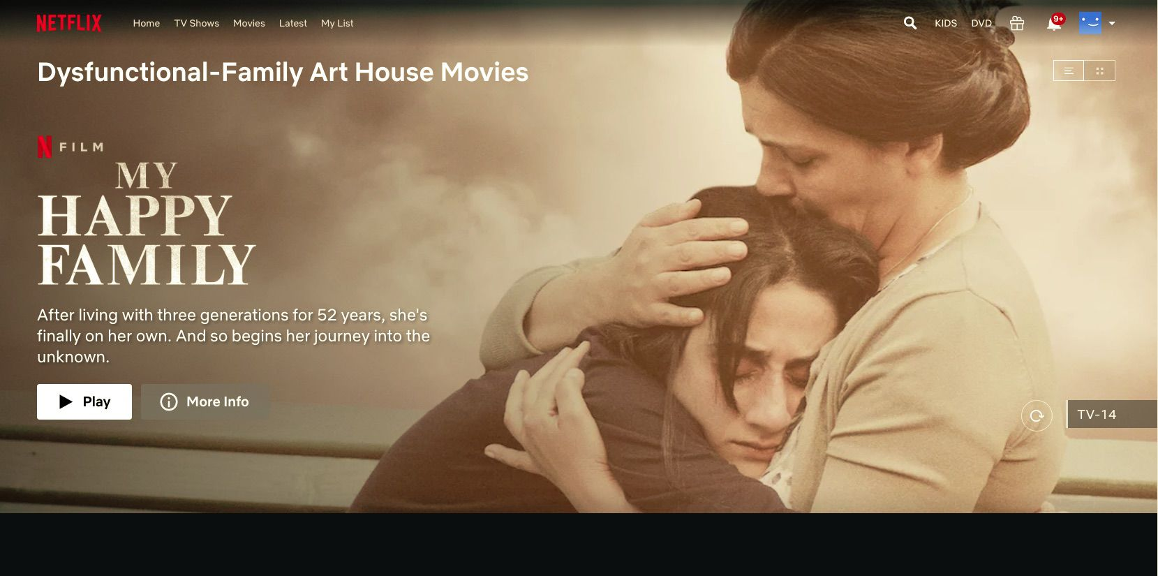 My Happy Family movie in Netflix hidden category Dysfunctional Family Art House Movies