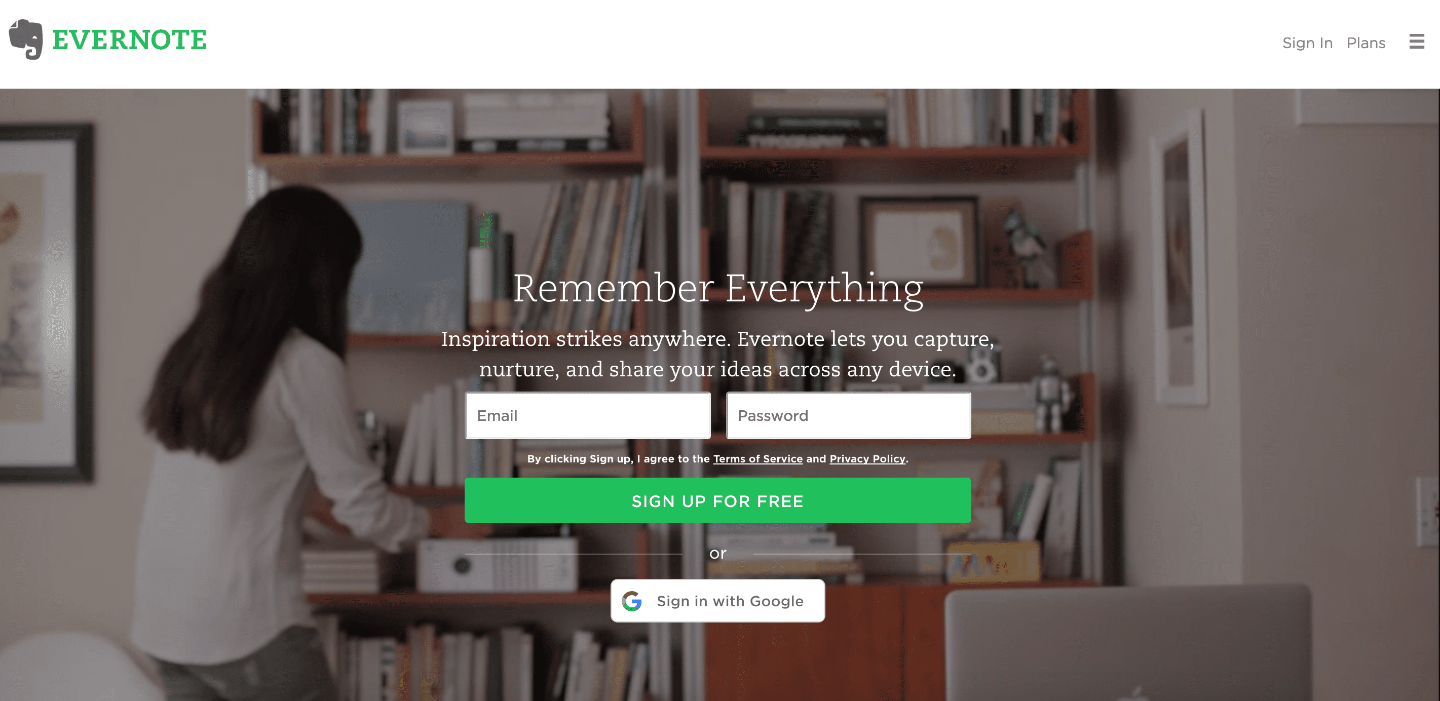 Evernote website