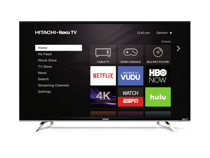 Hitachi 4K Ultra HD TVs with Built-in Roku Streaming