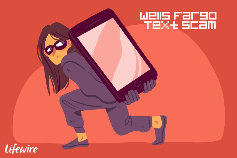 A conceptual illustration of the Wells Fargo Text Scam.