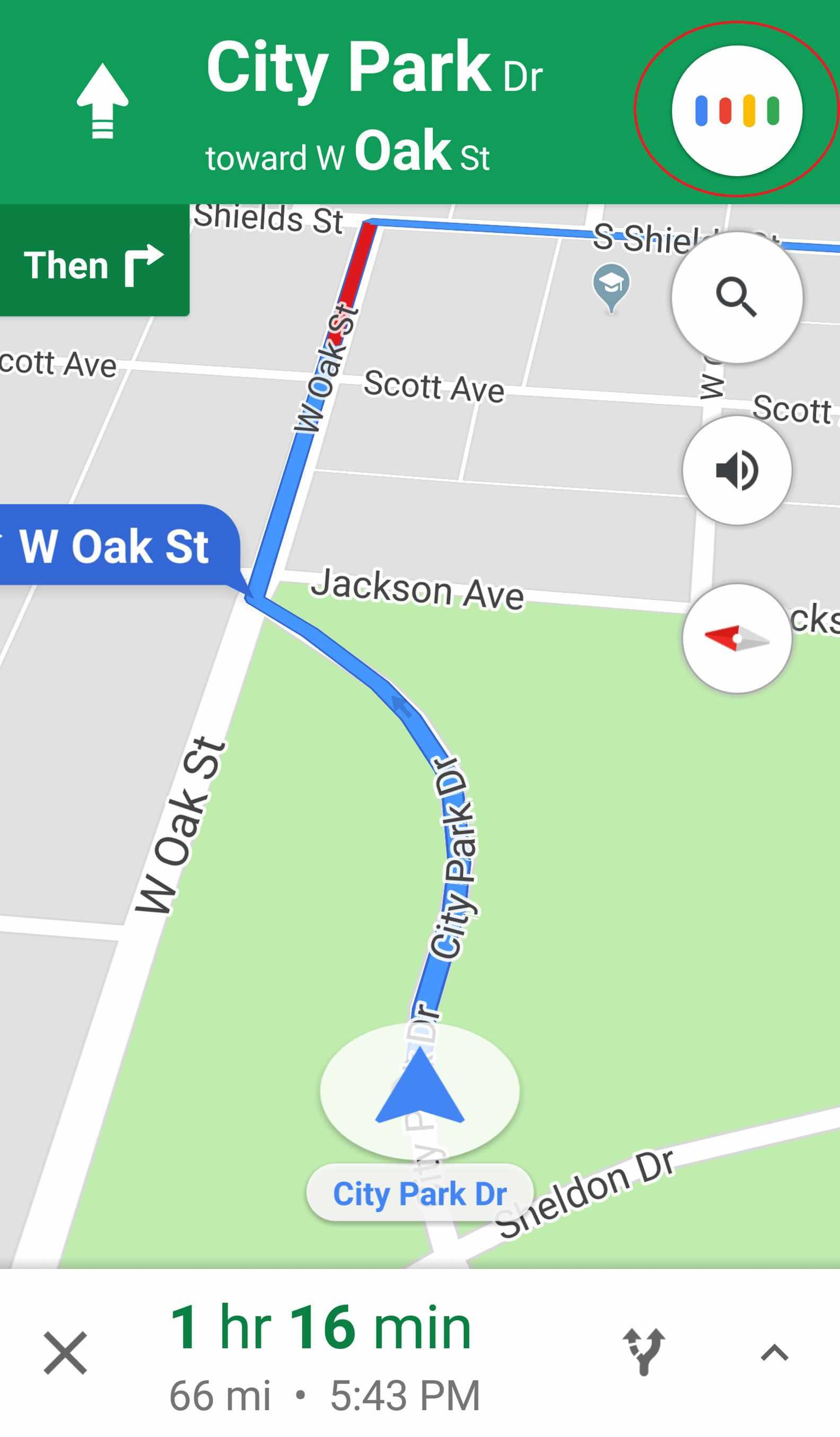 navigation listening in Google Maps