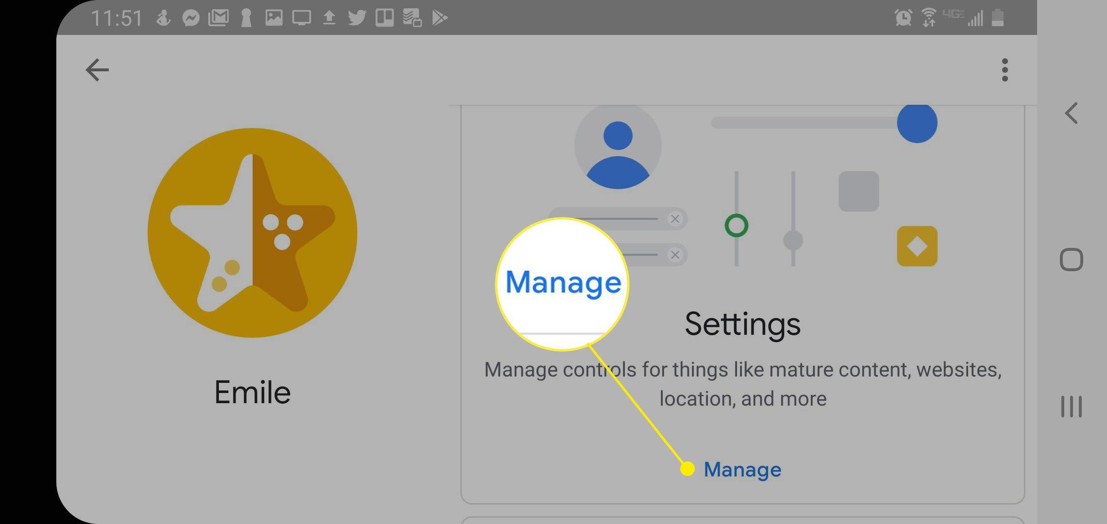 Google family link parental control settings