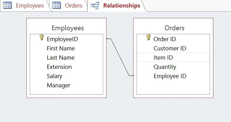 Database Relationships in Microsoft Access 2013