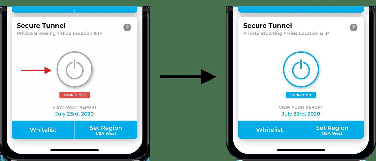 Secure Tunnel screenshots from Lockdown
