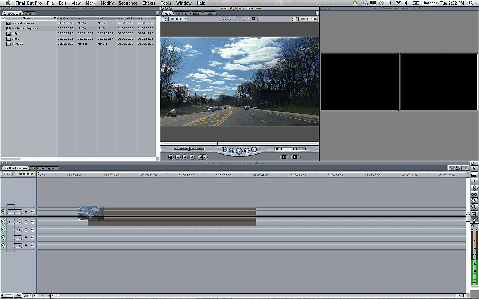 Fcp 7 Tutorial Learn The Basics Of Editing With Fcp 7