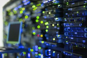 Illuminated server room panel