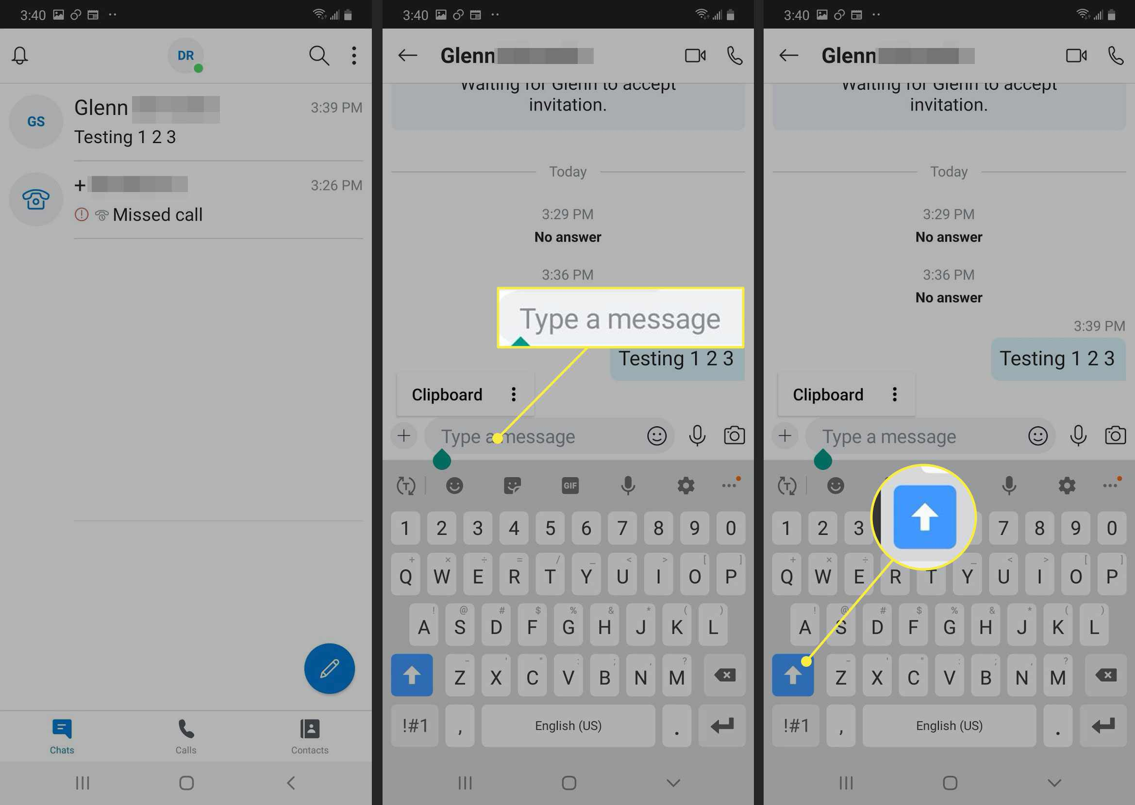 Chat in Skype for Android