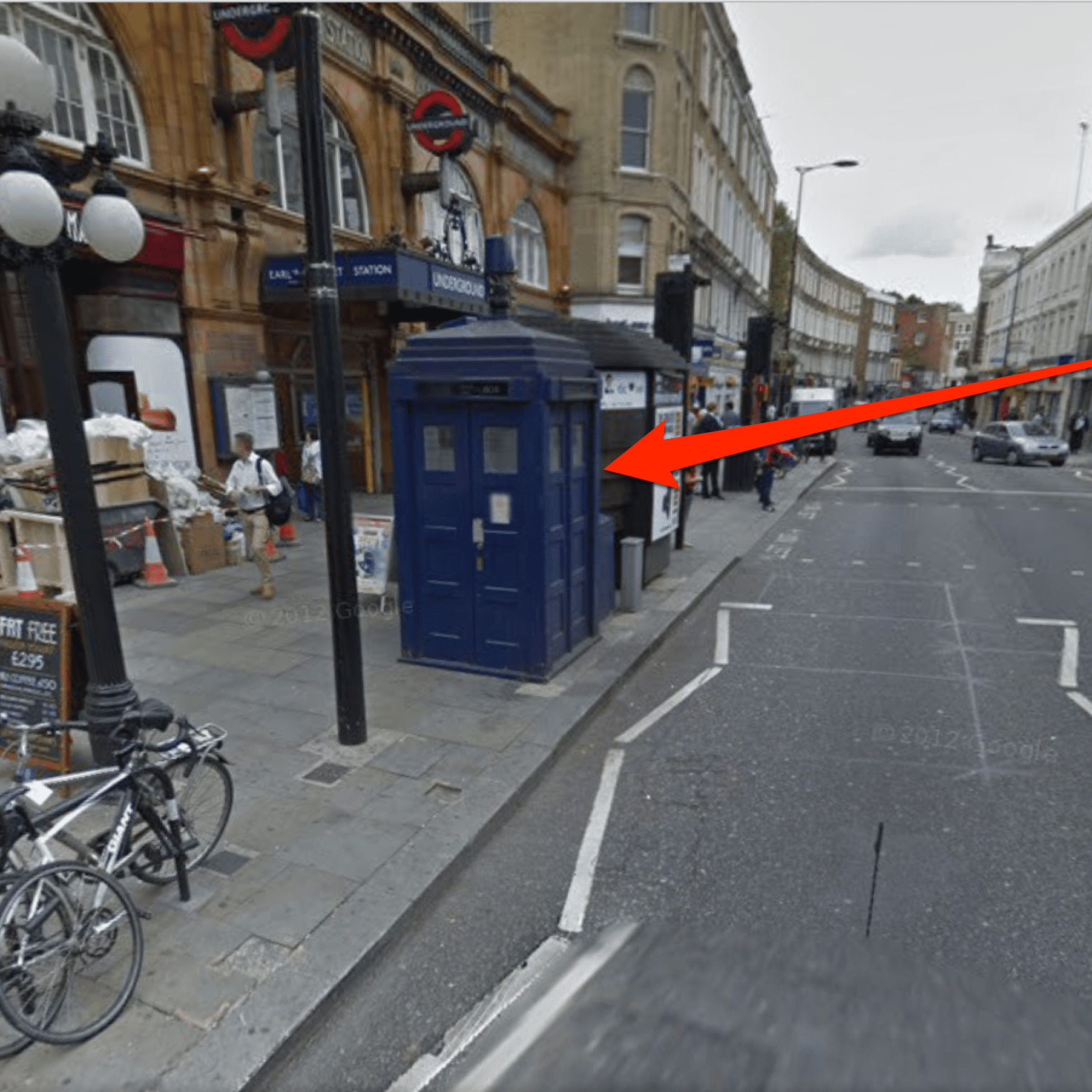 How to Find the 'Doctor Who' TARDIS in Google Maps