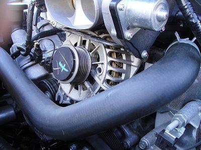 High output alternator for a car