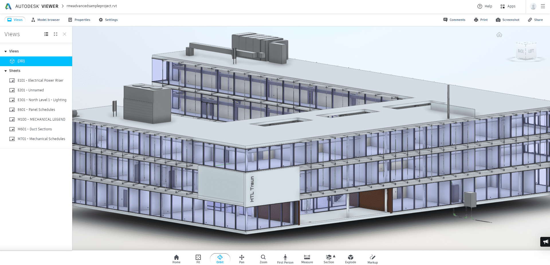 RVT File Open in Autodesk Viewer
