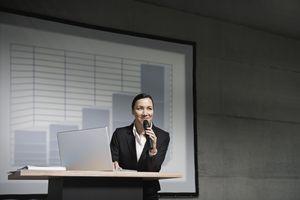 Businessperson giving a presentation