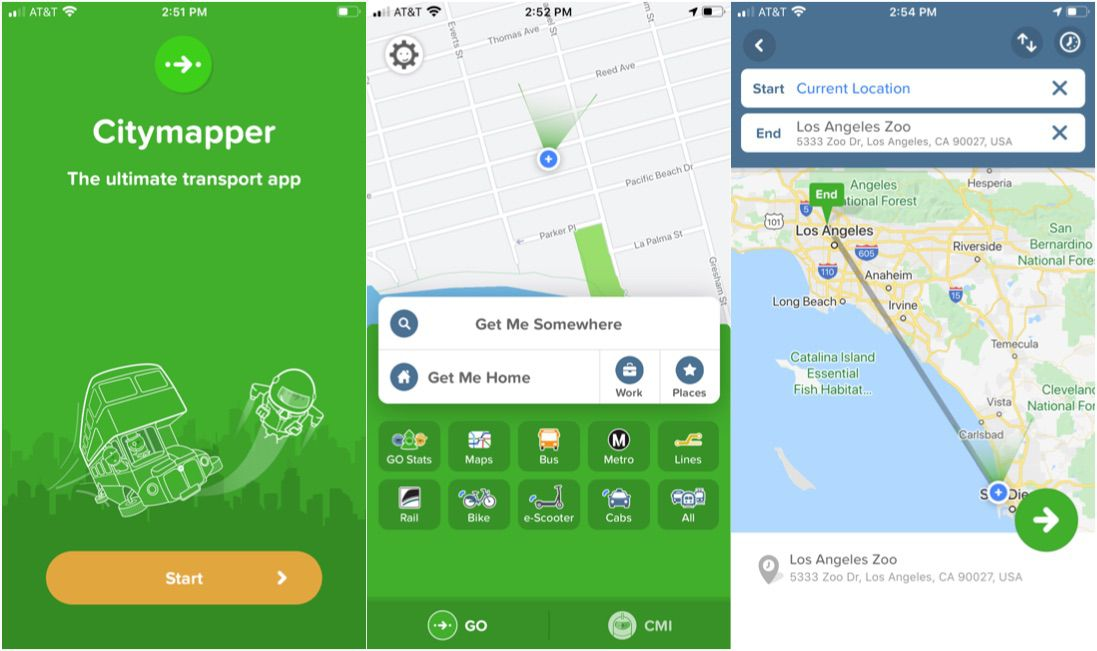 Citymapper travel app