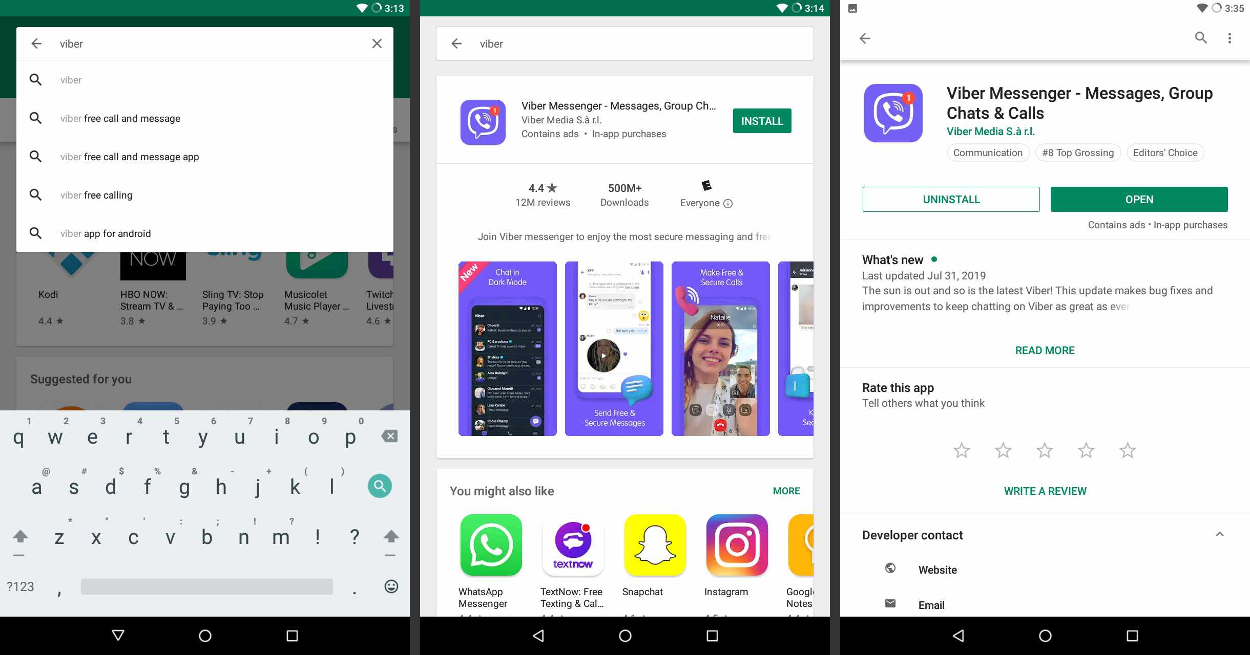 Install Viber on Android