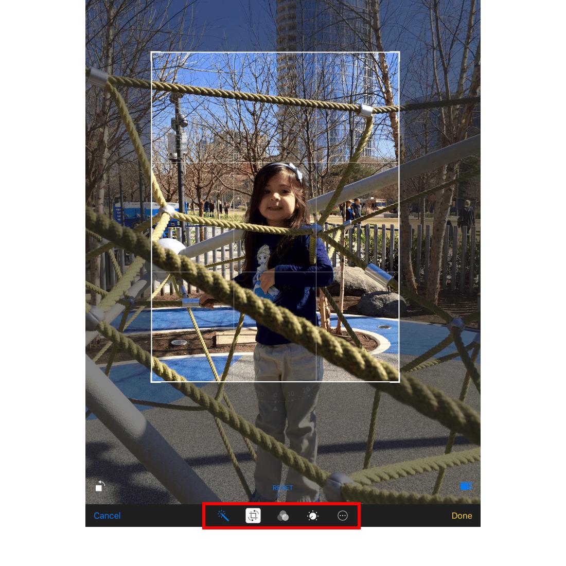 Photo app editor on iPad