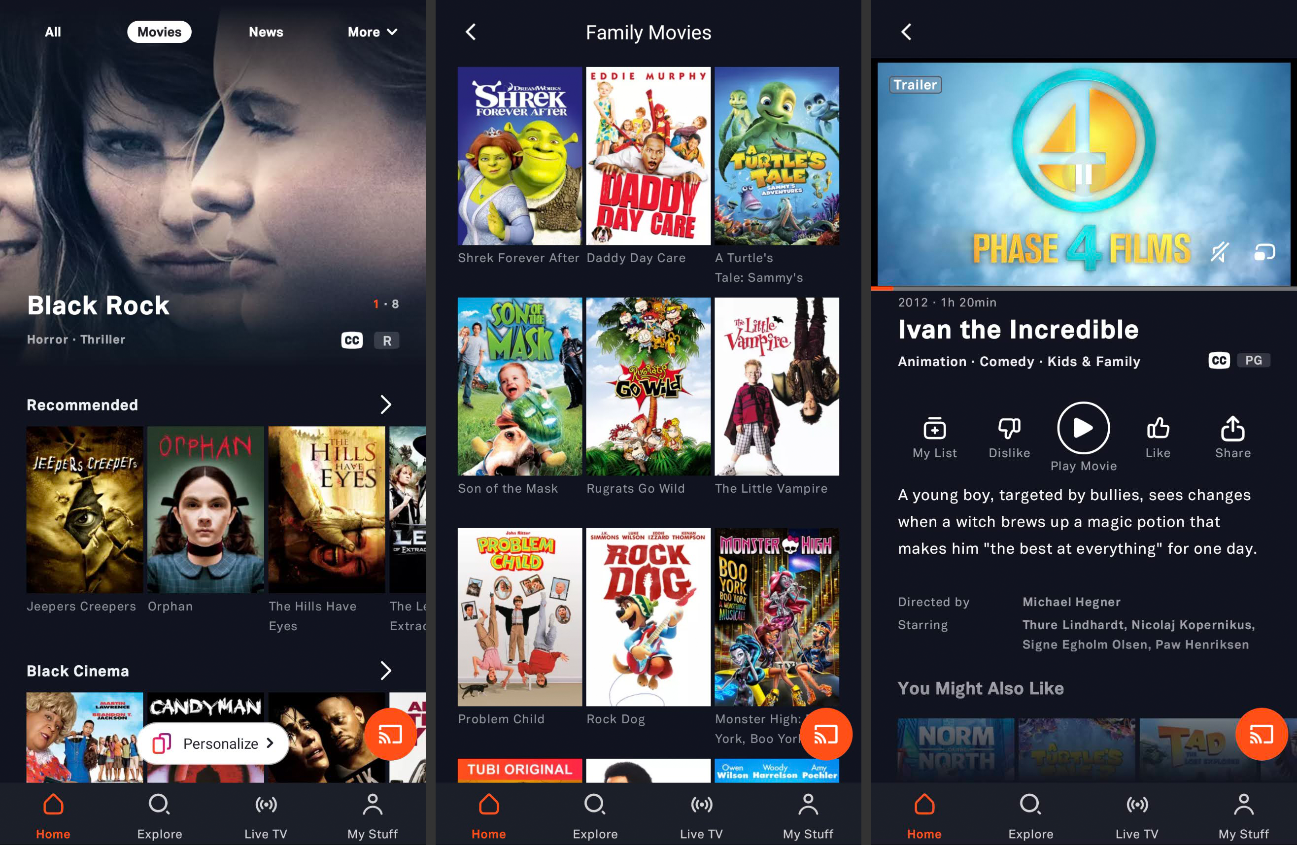 Tubi free movie app for Android