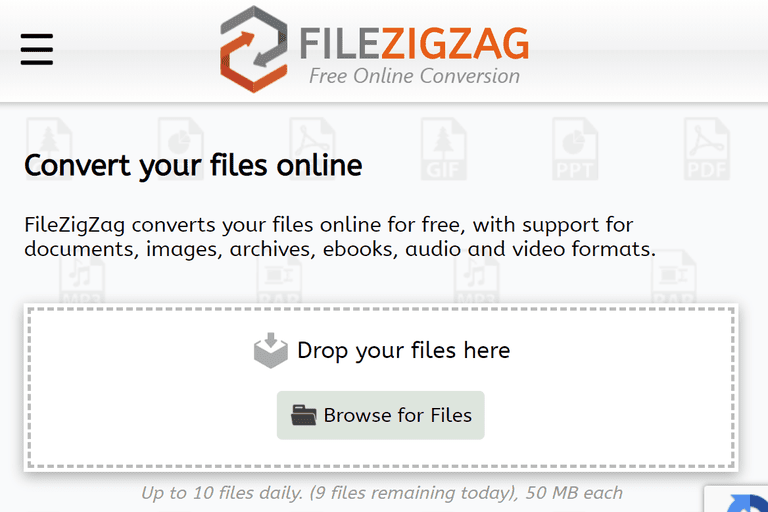 FileZigZag home page