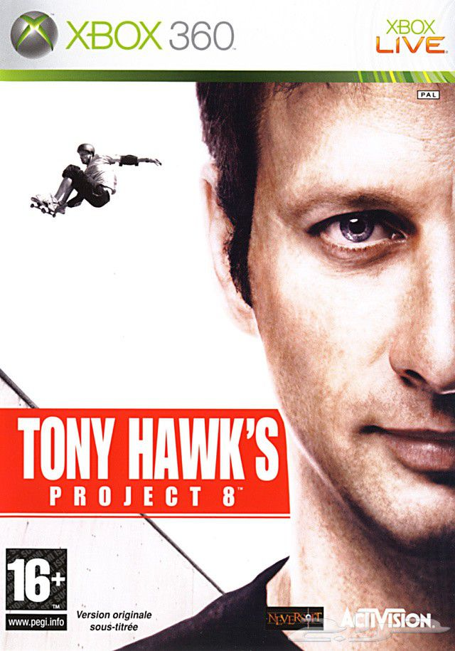 Tony Hawk's Project 8 Xbox 360 box shot