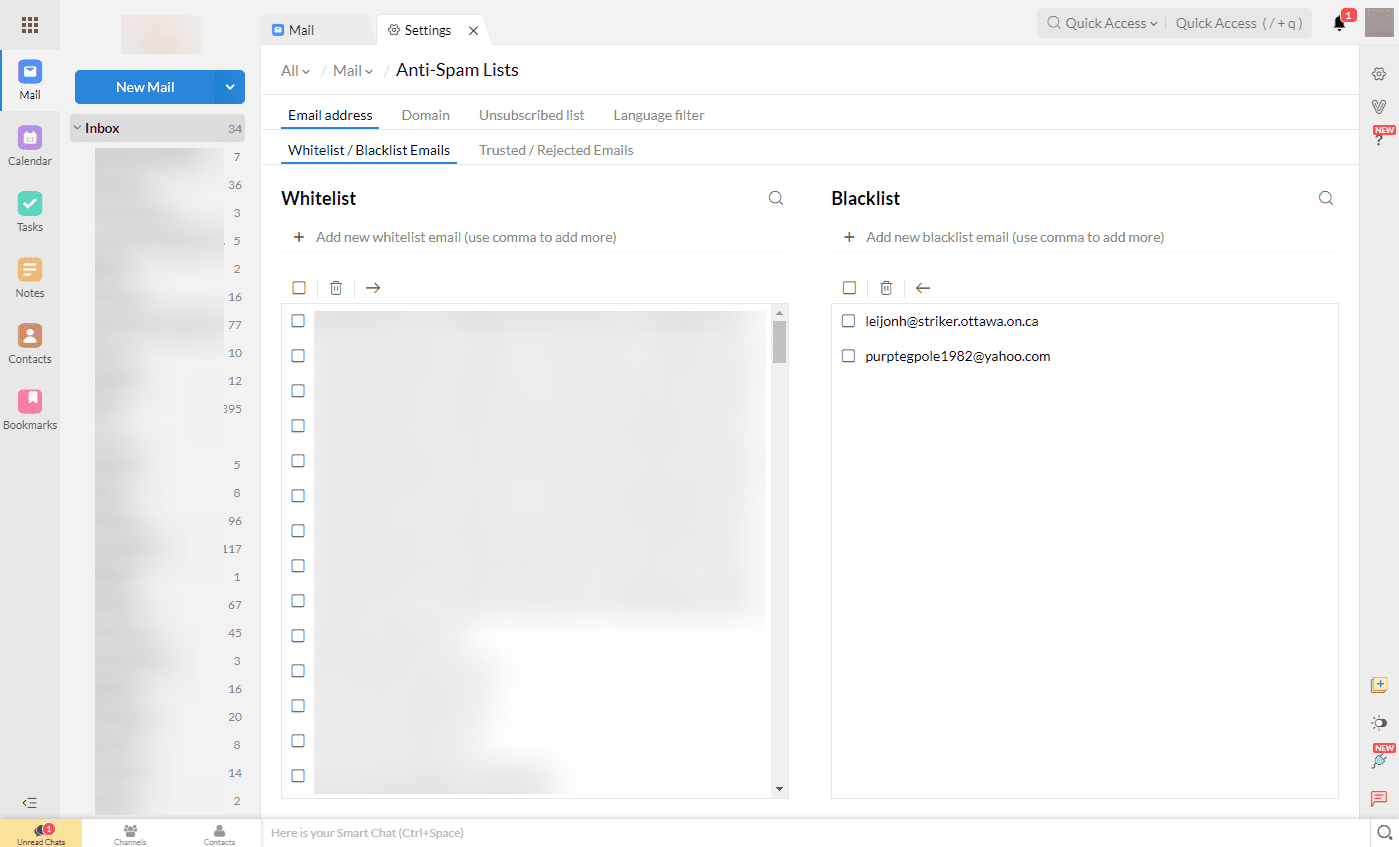 How to Block or Filter Email in Zoho Mail
