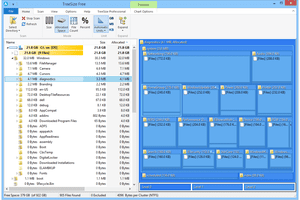 TreeSize Free v4.0.0 list of folders