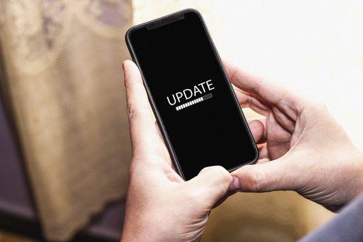 Update status bar on smartphone screen
