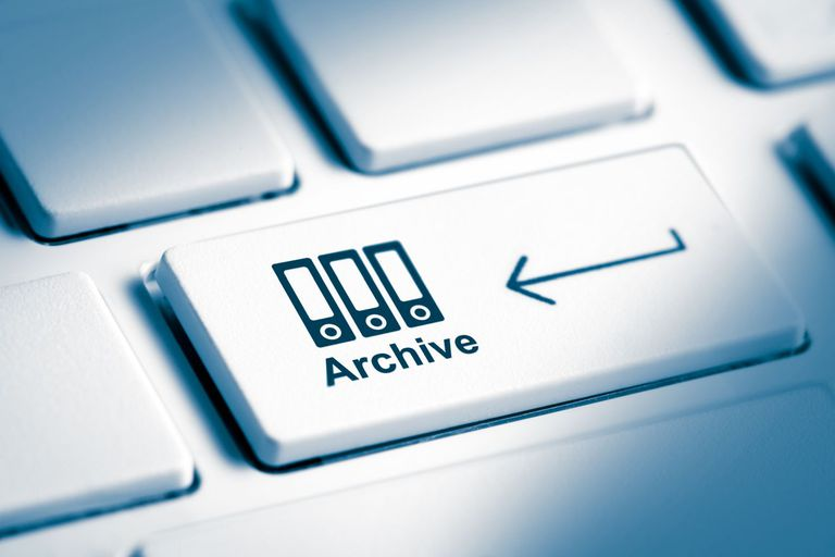 Image of an Archive button on keyboard