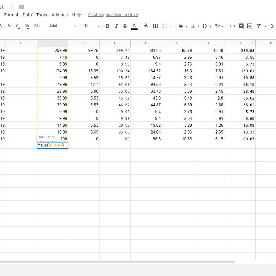 How to Sum Columns or Rows in Google Sheets