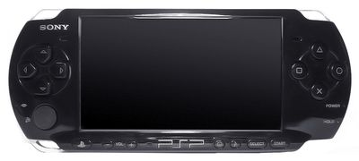 The PSP 3000 facing front