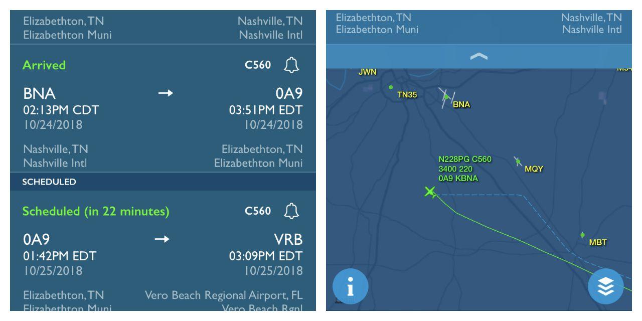 FlightAware makes tracking flights easy