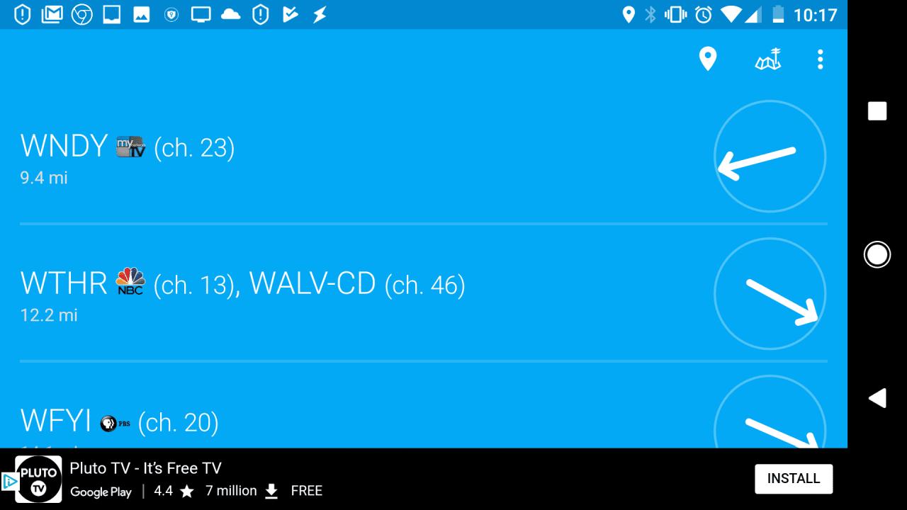 Screenshot of Digital TV Antennas app