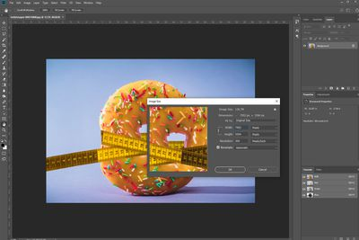 An image being edited in Photoshop.