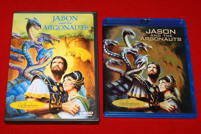 DVD and Blu-Ray versions of Jason and the Argonauts
