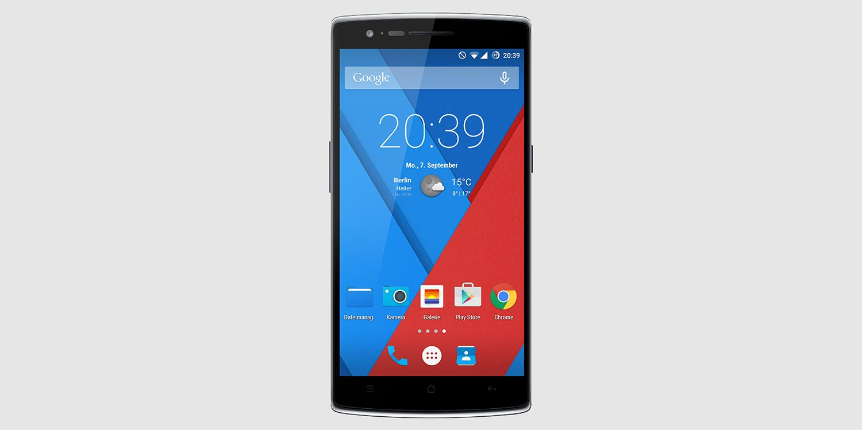 OnePlus One smartphone home screen