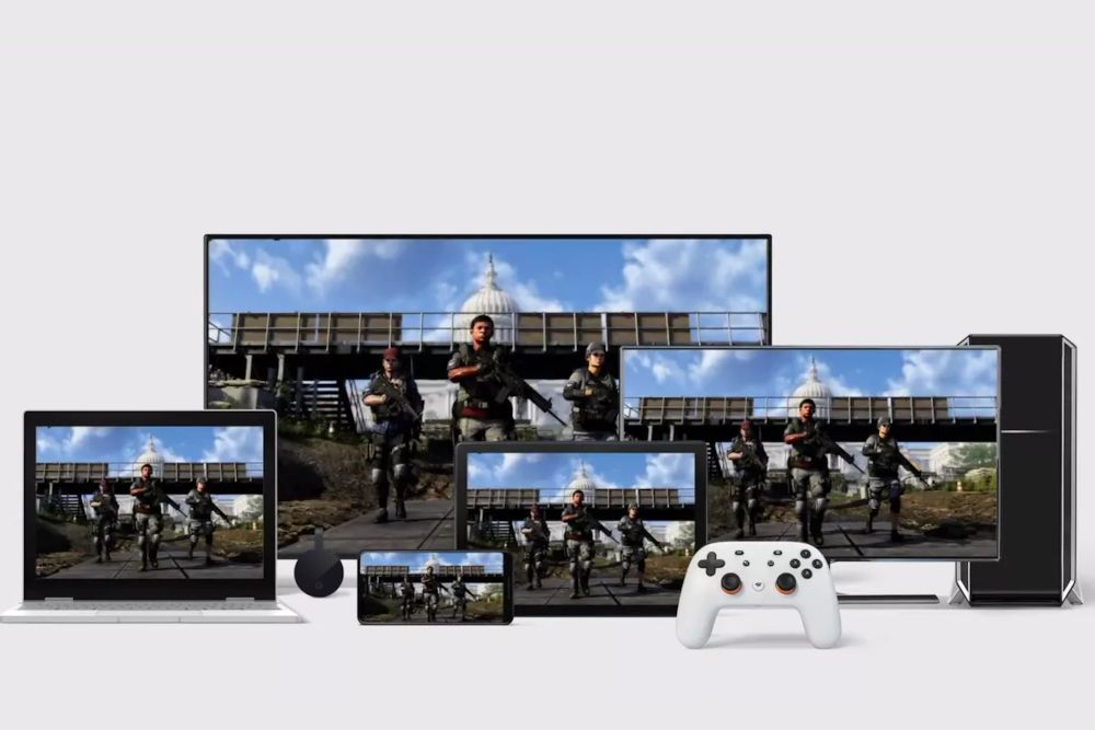 Image of devices supporting Google Stadia