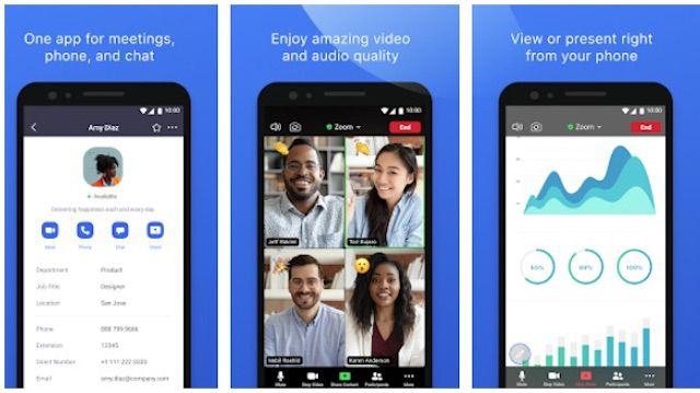 Zoom Cloud Meetings Android video chat app