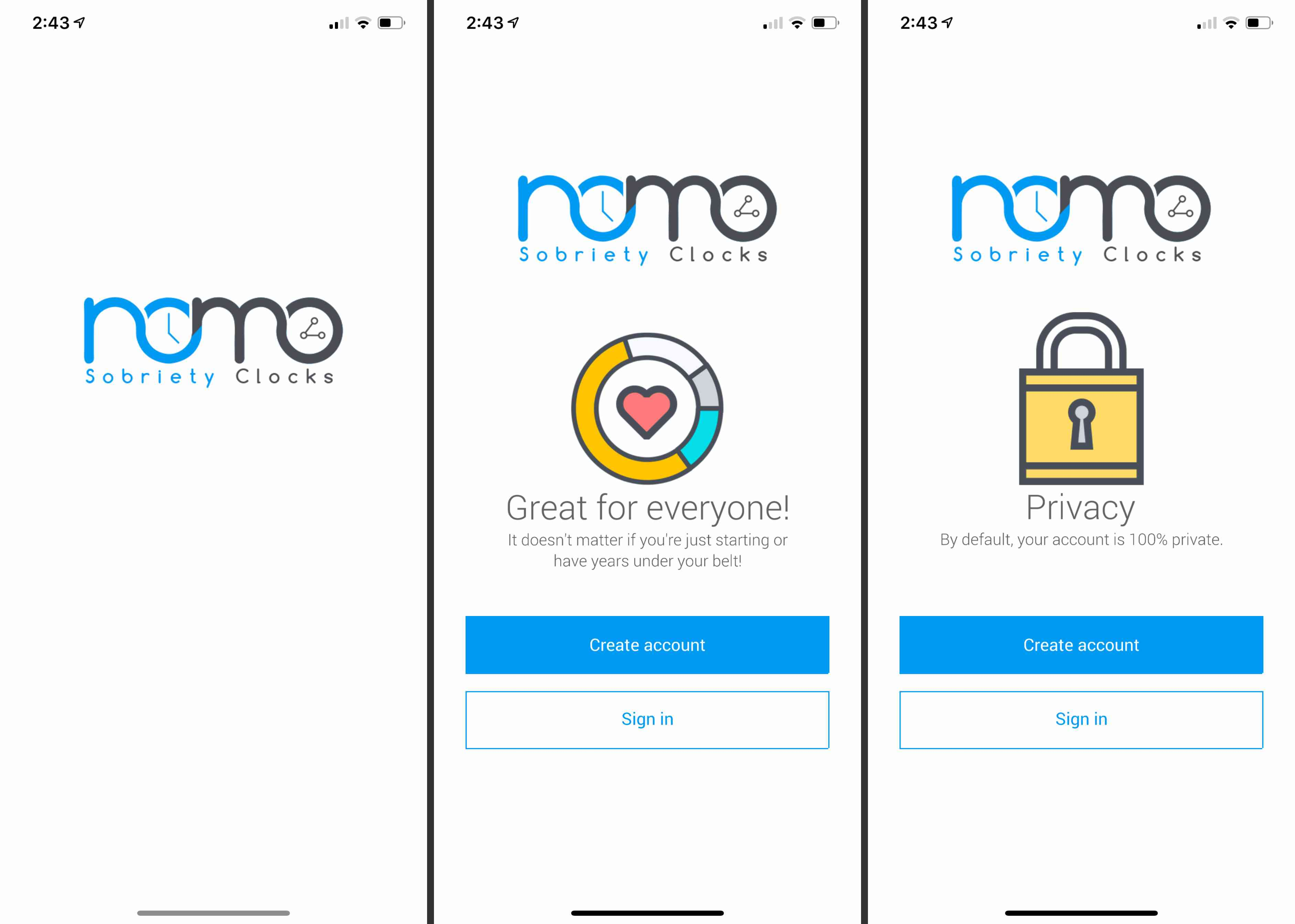 Nomo Sobriety Clocks app