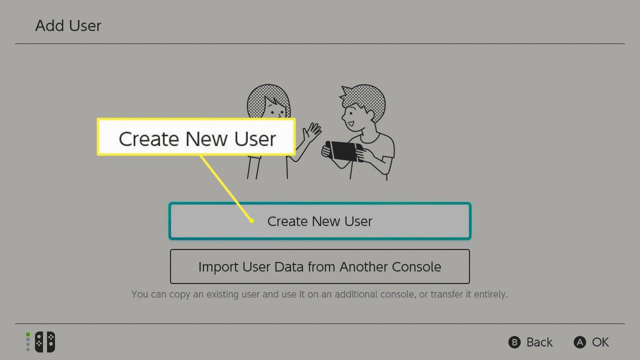 Create New User button