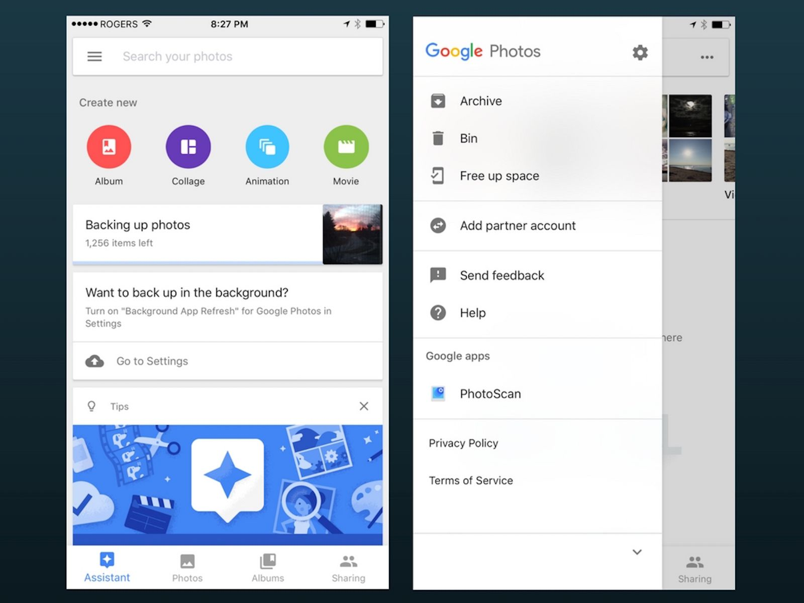 Google Photos for iOS