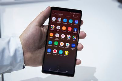Samsung Galaxy Note 9 application tray