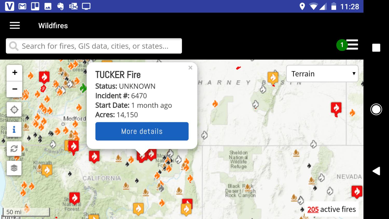 Screenshot of the FWAC app