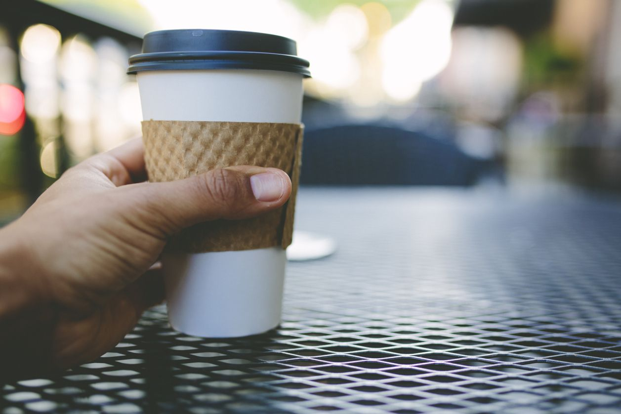 Coffee in to-go cup