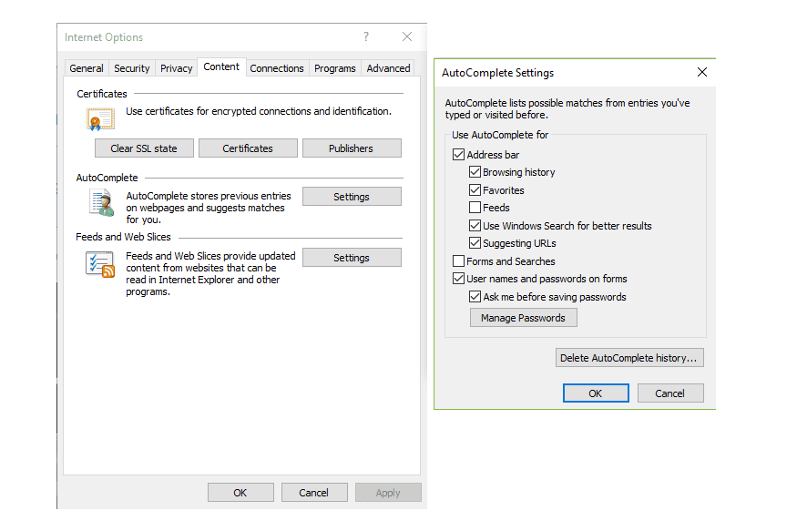 Disable AutoComplete Password Storage in IE