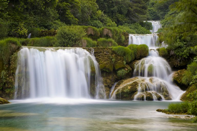 National park Krka waterfalls, Dalmatia, Croatia