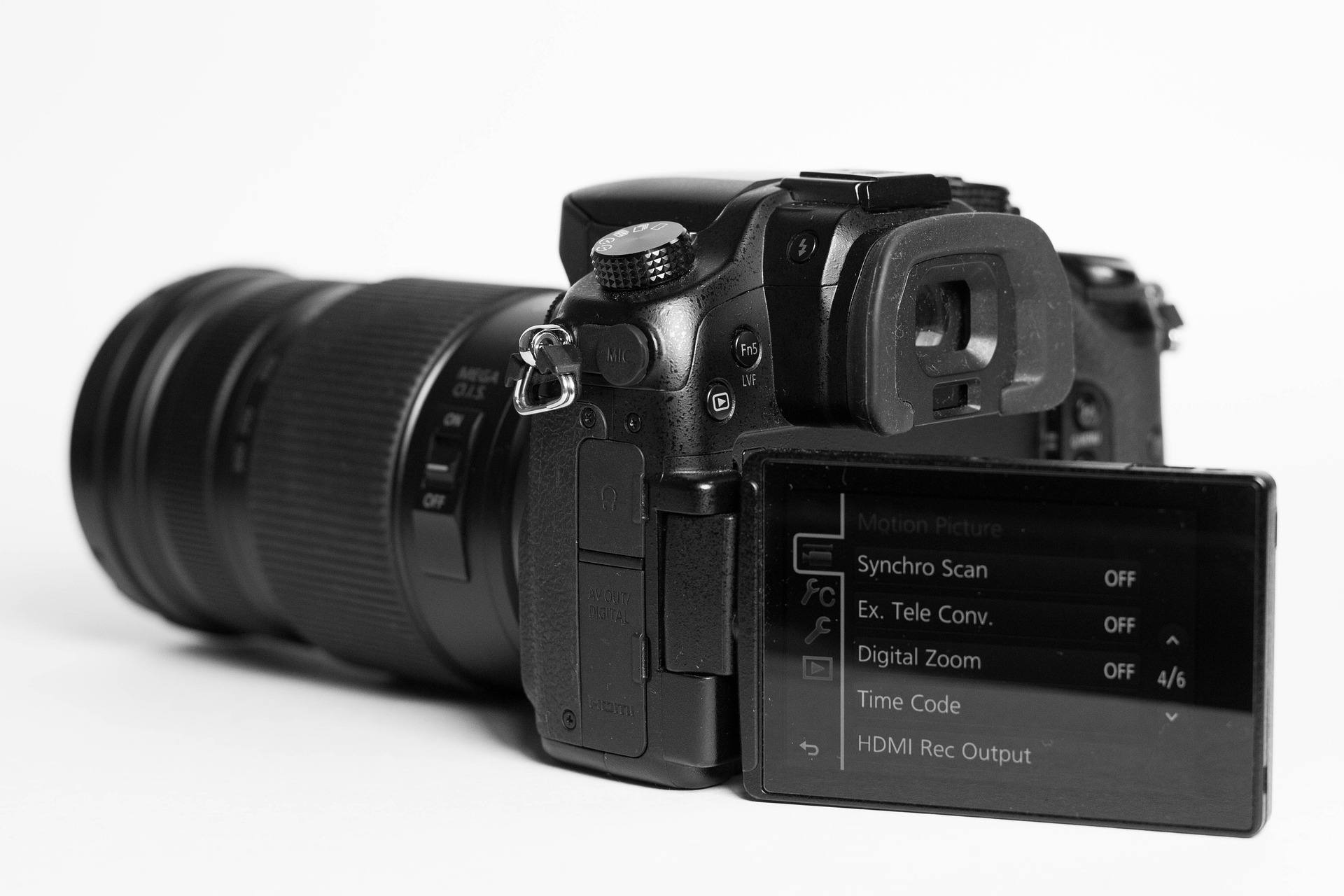 A mirrorless Lumix camera.