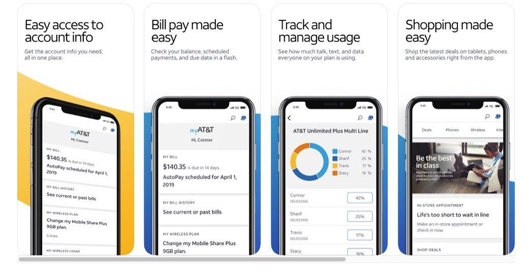 myATT app data usage information