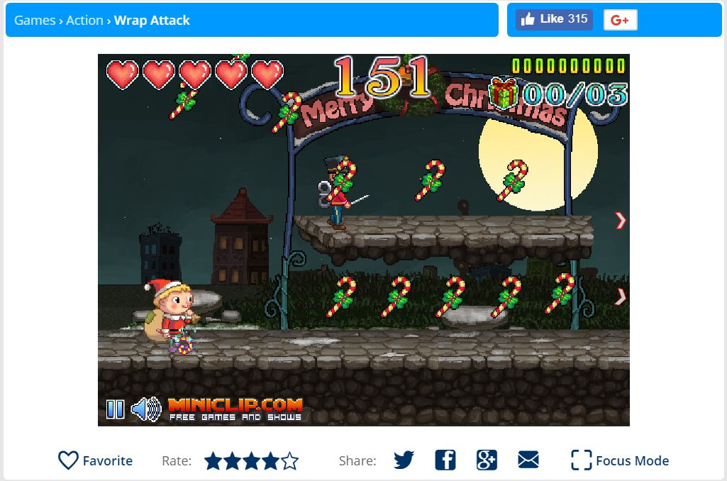 A screenshot of the game Wrap Attack