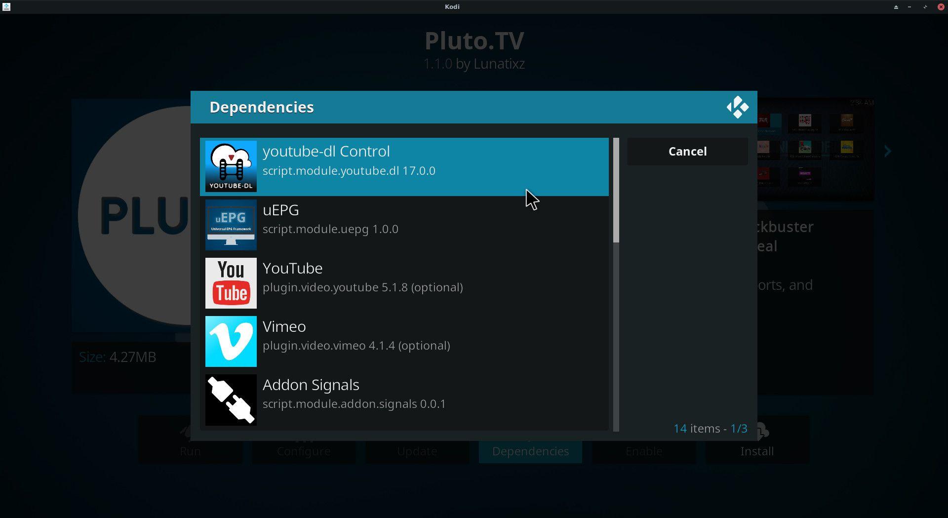 install pluto tv on kodi