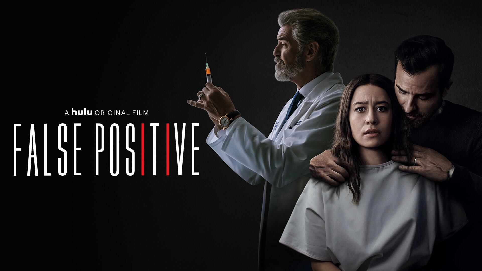 Justin Theroux, Sophia Bush, and Pierce Brosnan in False Positive