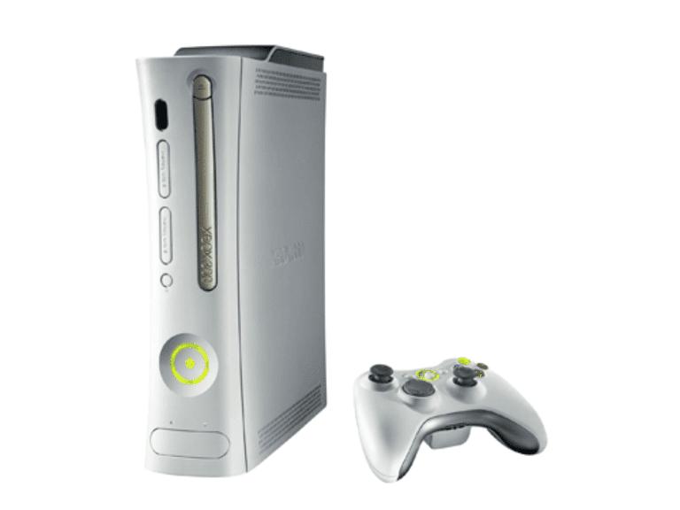 White Xbox 360 model
