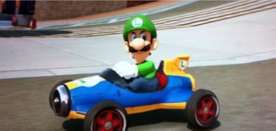 Luigi Death Stare in Mario Kart 8